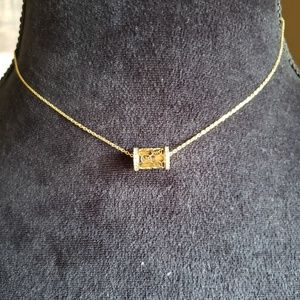 MK Michael kors Vintage signature barrel necklace